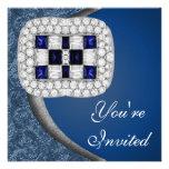 Sapphire Diamonds Party Invitation