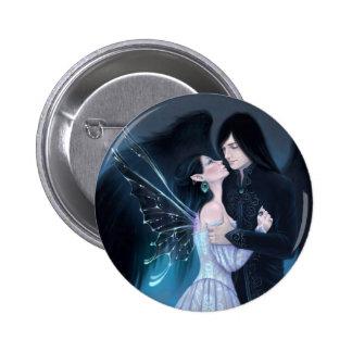 Sapphire Fairy Angel Button Badge
