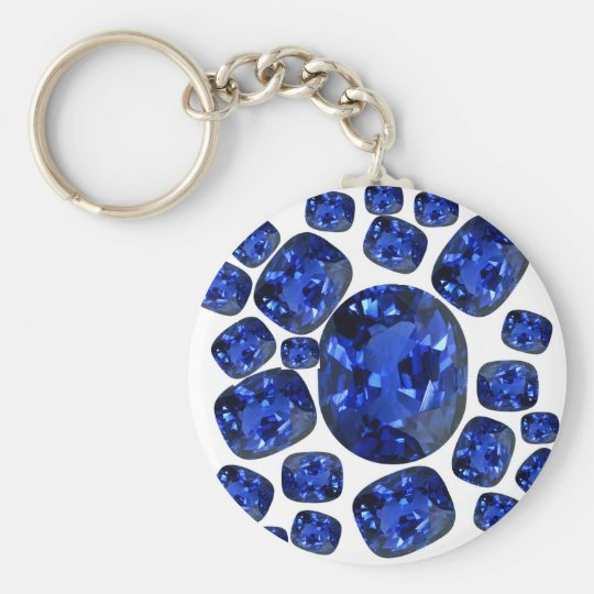 Sapphire Gems Birthstone gifts by sharles Key Ring