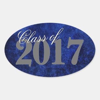 Sapphire Grad | Blue Royal Cobalt Azure Year Oval Sticker
