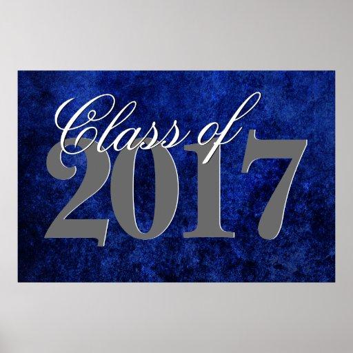 Sapphire Grad   Blue Royal Cobalt Azure Year Poster