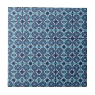 Sapphire Kaleidoscope Pattern Tile