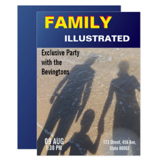 Sapphire Magazine Cover Family Party Beach Wedding Card