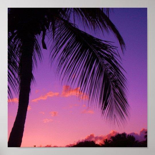 sapphire palm poster