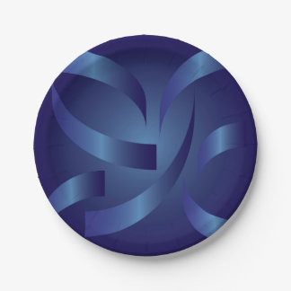 sapphire ribbons paper plate