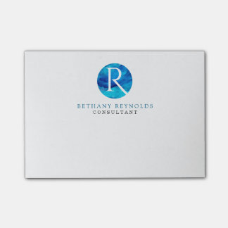 Sapphire Sky Window Monogram Modern Post-it Notes