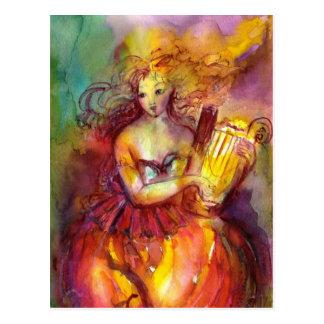 SAPPHO ,DANCE, MUSIC AND POETRY POSTCARD