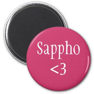 Sappho love 6 cm round magnet