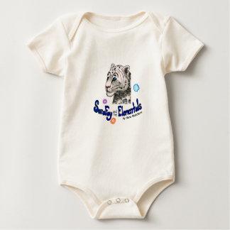 Sara Fay Snow Leopard Organic Cotton Baby Bodysuit