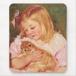Sara Holding a Cat Mary Cassatt Mousepad