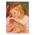 Sara Holding Her Kitten by Mary Cassatt