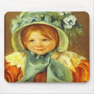 Sara in a Green Bonnet c 1901 Mary Cassatt Mouse Mats