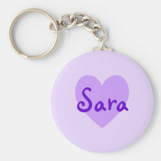 Sara in Purple Key Ring