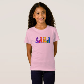 sara in rainbow letters T-Shirt