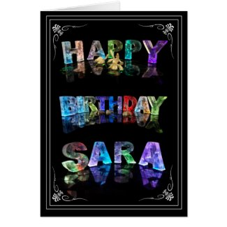 Sara - Name in Lights greeting card (Photo)