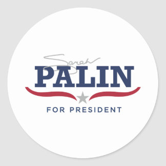 Sara Palin for President Logo Round Sticker