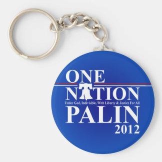 Sara Palin - One Nation Design - 2012 Basic Round Button Key Ring