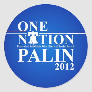 Sara Palin - One Nation Design - 2012 Round Sticker