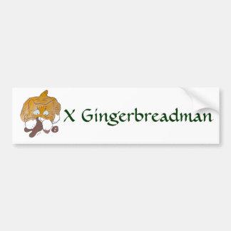 Sara, the Kitten, Gingerbread Crunch Bumper Sticker