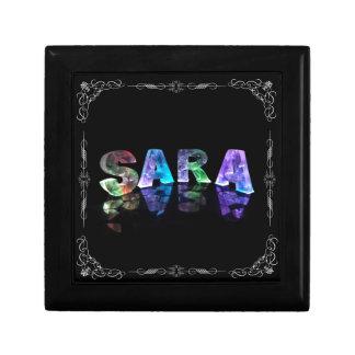 Sara  - The Name Sara in 3D Lights (Photograph) Gift Box