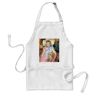 Sara with Pet Dog by Marie Cassatt Adult Apron
