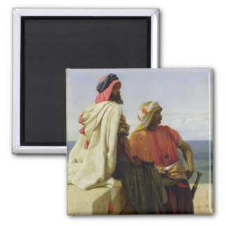 Saracens in front of their Position, 1864 Square Magnet