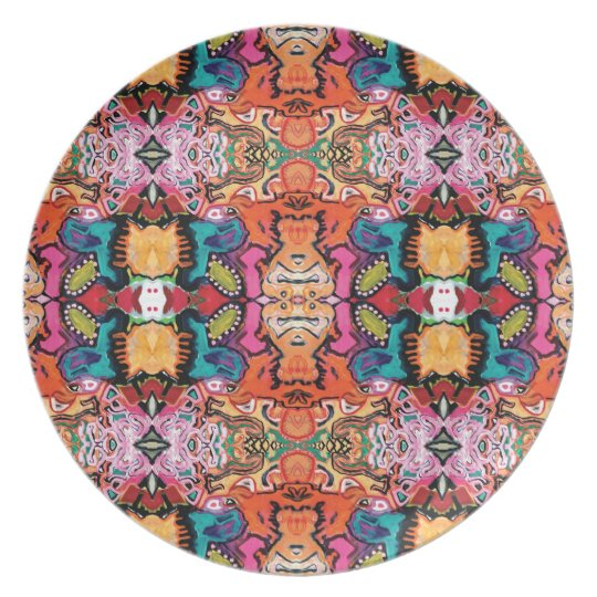 Saragui Reflection Colourful Melamine Plate