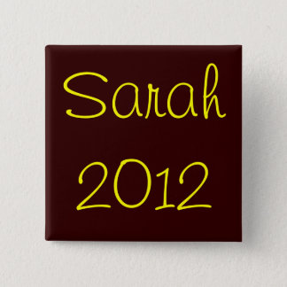 Sarah 2012 15 cm square badge