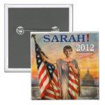 Sarah! 2012 pinback button