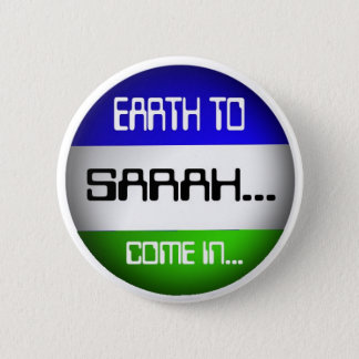 Sarah 6 Cm Round Badge
