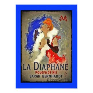 Sarah Berhardt La Diaphane 14 Cm X 19 Cm Invitation Card