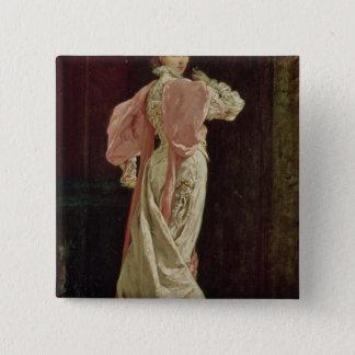Sarah Bernhardt 15 Cm Square Badge