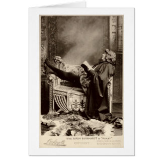Sarah Bernhardt (1844-1923) as Hamlet in the 1899 Card