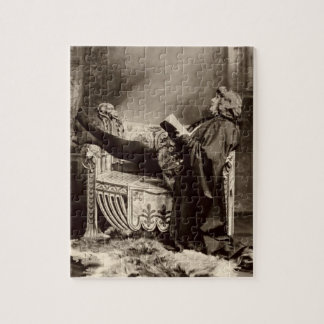 Sarah Bernhardt (1844-1923) as Hamlet in the 1899 Jigsaw Puzzle