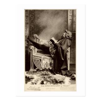 Sarah Bernhardt (1844-1923) as Hamlet in the 1899 Postcard