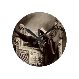 Sarah Bernhardt (1844-1923) as Hamlet in the 1899 Round Clock