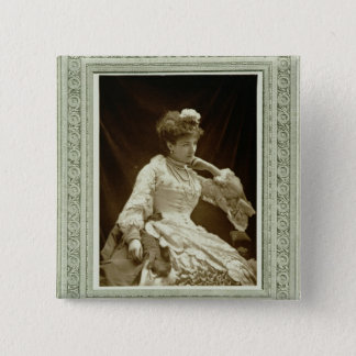 Sarah Bernhardt (1844-1923), from 'Galerie Contemp 15 Cm Square Badge