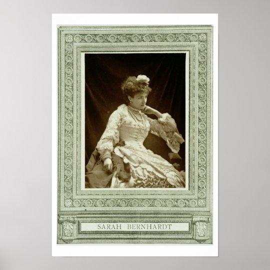 Sarah Bernhardt (1844-1923), from 'Galerie Contemp Poster