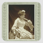 Sarah Bernhardt (1844-1923), from 'Galerie Contemp Square Sticker
