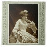 Sarah Bernhardt (1844-1923), from 'Galerie Contemp Tile