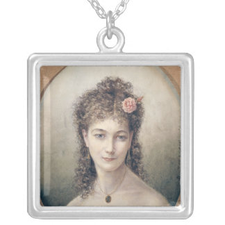 Sarah Bernhardt  1869 Silver Plated Necklace