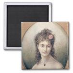 Sarah Bernhardt  1869 Square Magnet