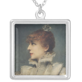 Sarah Bernhardt  1875 Silver Plated Necklace