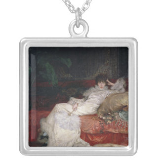 Sarah Bernhardt  1876 Silver Plated Necklace