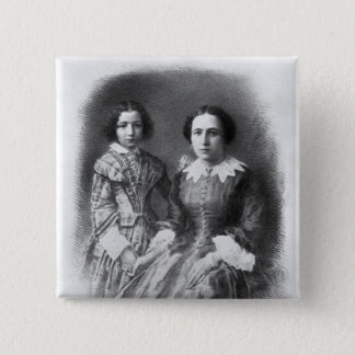 Sarah Bernhardt and her mother? 15 Cm Square Badge