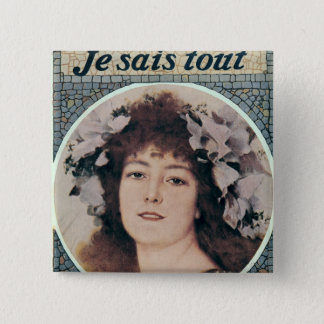 Sarah Bernhardt  in Gismonda 15 Cm Square Badge