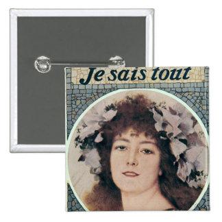 Sarah Bernhardt  in Gismonda 15 Cm Square Badge