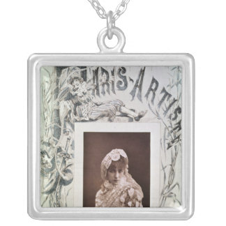 Sarah Bernhardt  in the role of Marion Delorme Silver Plated Necklace