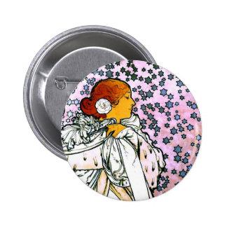 Sarah Bernhardt, La Dame aux Camélias 6 Cm Round Badge