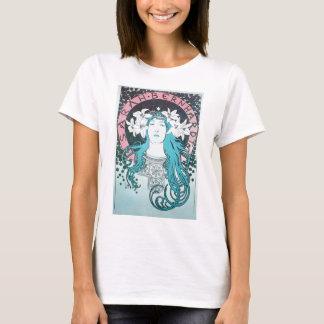 Sarah Bernhardt Mucha Vintage Art Nouveau Retro T-Shirt